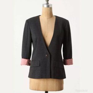 Anthropologie | Cartonnier Sans Collar Blazer EUC